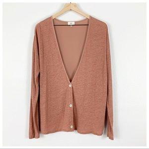 AG Adriano Goldschmied Linen Silk Cardigan Size M